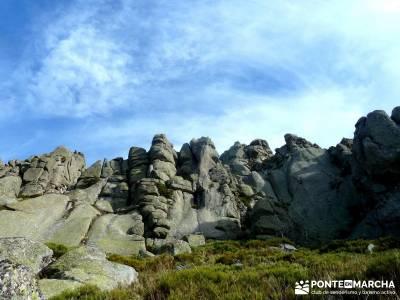 Siete Picos:Senda Herreros,Camino Schmid(Schmidt); rutas alrededor de madrid; rutas a pie sierra